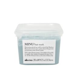 Davines Minu, maska odbudowująca oraz przedłużające trwałość koloru do włosów farbowanych. Pojemność 250ml.