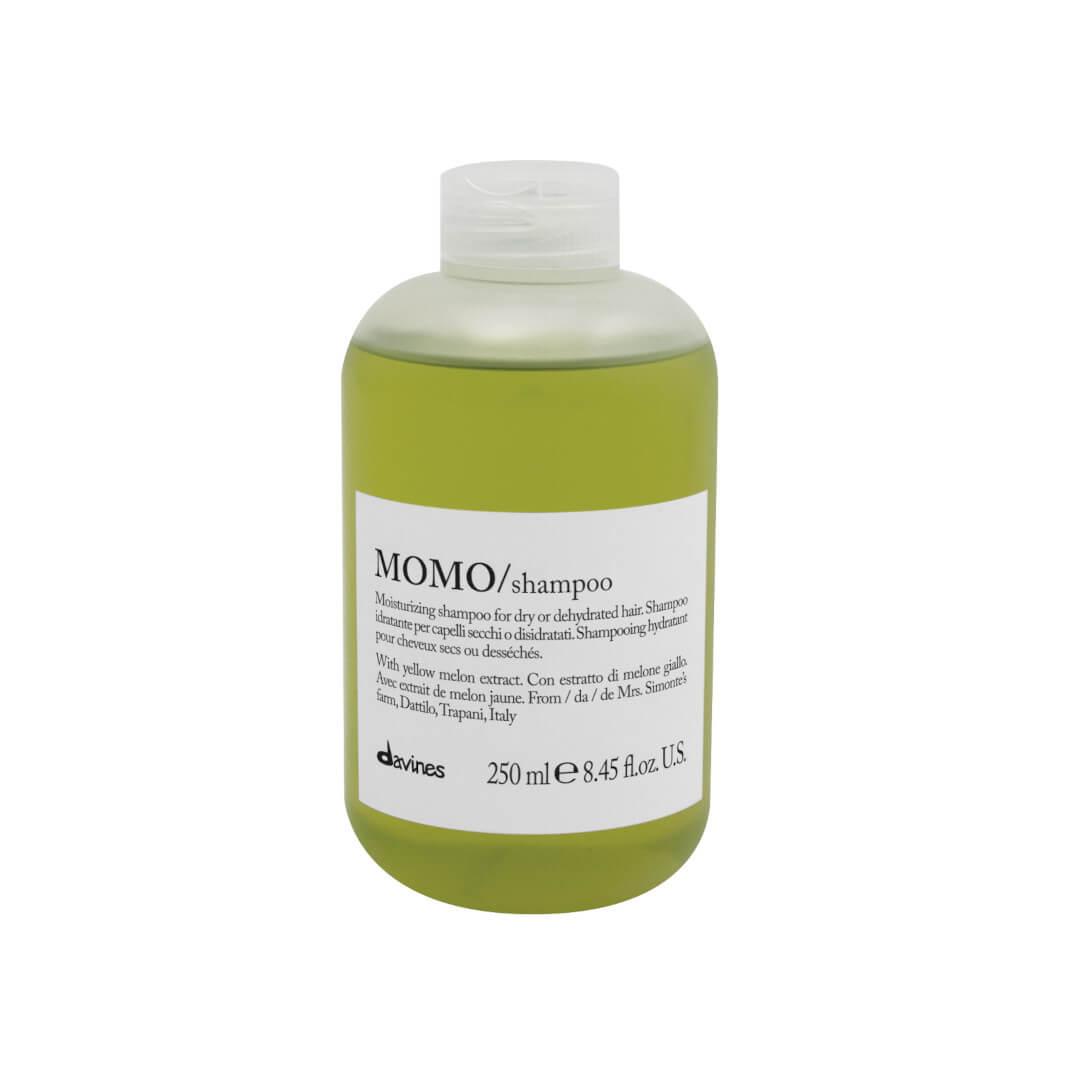 Davines Momo, szampon głęboko nawilżający przeznaczony do włosów suchych i odwodnionych. Pojemność 250ml.